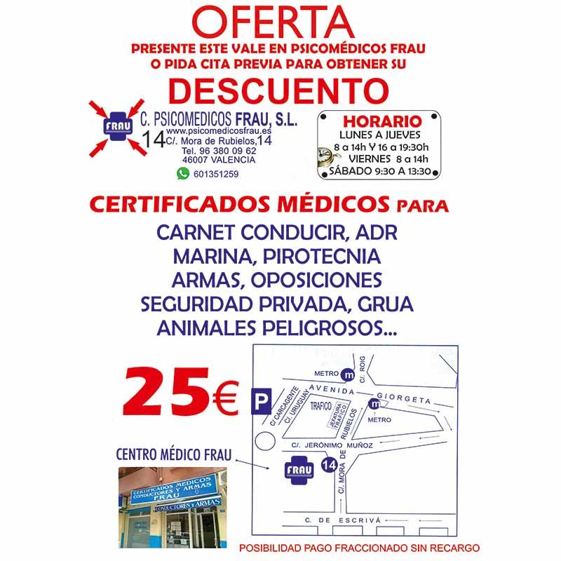 Certificados Psicomédicos FRAU S.L.