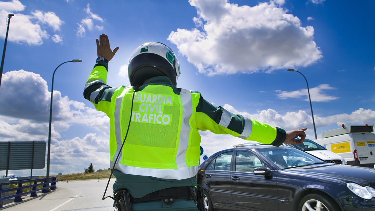 Control de tráfico de Guardia Civíl